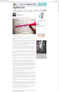 Guest Writer – Applied Arts Magazine